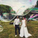 Bulles de savon géantes au mariage de Noor Farès et Alexandre Khawam
